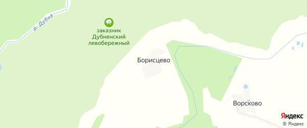 Карта деревни Борисцево в Московской области с улицами и номерами домов