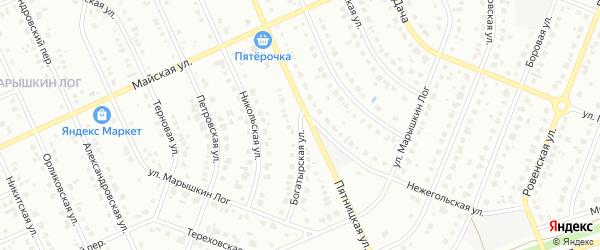 Богатырская улица на карте Старого Оскола с номерами домов