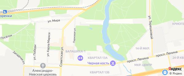 ГСК Пехорка на карте Балашихи с номерами домов