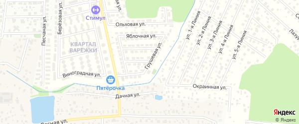 Грушевая улица на карте квартала Варежки с номерами домов