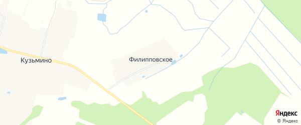Карта деревни Филипповского в Московской области с улицами и номерами домов