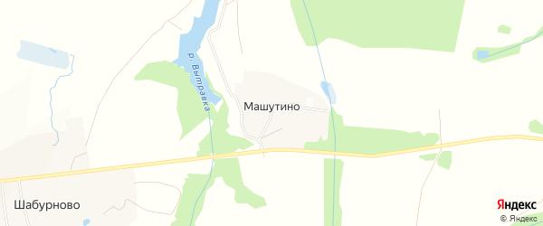 Карта деревни Машутино в Московской области с улицами и номерами домов