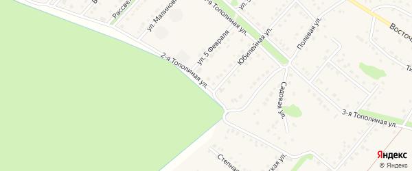 Тополиная 2-я улица на карте села Лапыгино с номерами домов