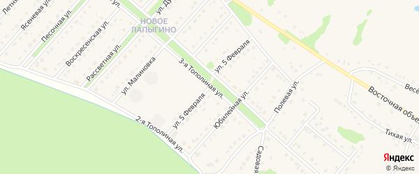 Улица 5 Февраля на карте села Лапыгино с номерами домов