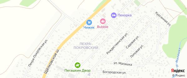 Пехорская улица на карте Балашихи с номерами домов