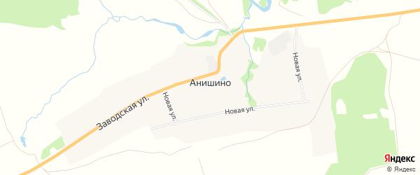 Карта деревни Анишино в Тульской области с улицами и номерами домов