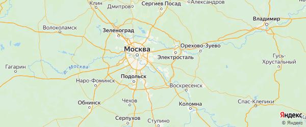 Карта Люберецкого района Московской области с городами и населенными пунктами