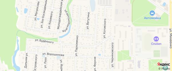 Комсомольская 2-я улица на карте Хотьково с номерами домов