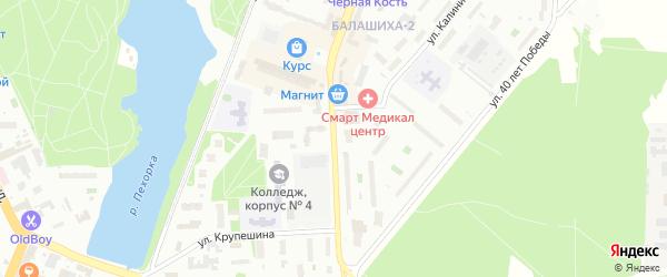 Спортивная улица на карте Балашихи с номерами домов