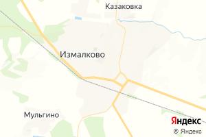 Карта с. Измалково Липецкая область