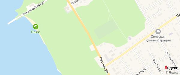 Лесная улица на карте села Липин Бора Вологодской области с номерами домов