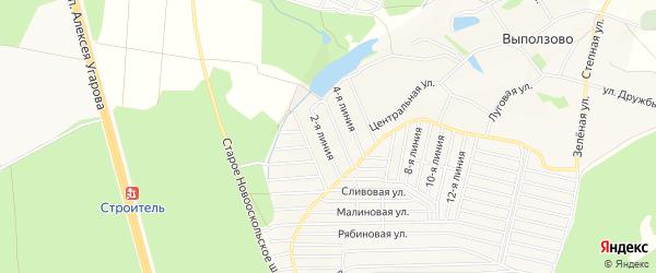 СТ Березка на карте Старооскольского района с номерами домов