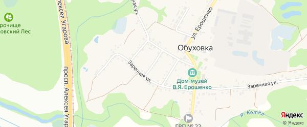 Дачный переулок на карте села Обуховки с номерами домов