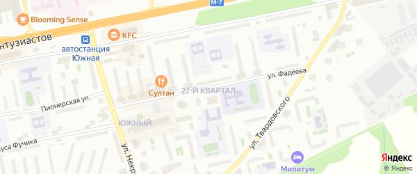 Улица Фадеева на карте Балашихи с номерами домов