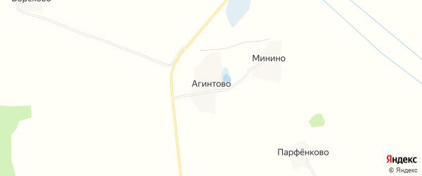 Карта деревни Агинтово в Московской области с улицами и номерами домов