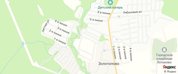 СНТ Здоровье на карте деревни Золотилово Московской области с номерами домов