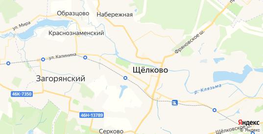 Карта Щелково с улицами и домами подробная. Показать со спутника номера домов онлайн