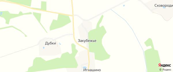 Карта села Закубежья в Московской области с улицами и номерами домов
