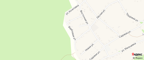 Березовая улица на карте Курского села Белгородской области с номерами домов