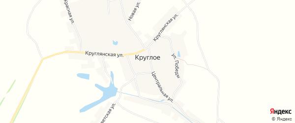 Карта Круглого села в Орловской области с улицами и номерами домов