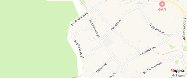 Восточный переулок на карте Курского села Белгородской области с номерами домов