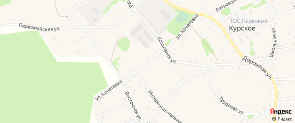 Улица Кочетовка на карте Курского села Белгородской области с номерами домов