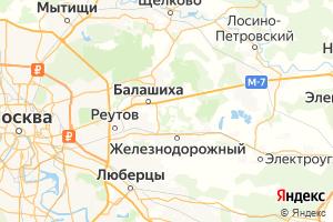 Карта г. Балашиха Московская область