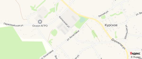 Колхозная улица на карте Курского села с номерами домов