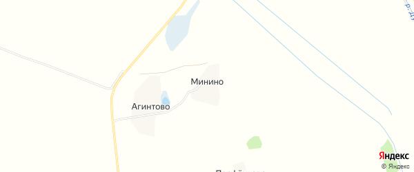Карта деревни Минино в Московской области с улицами и номерами домов