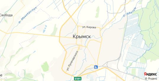 Карта Крымска с улицами и домами подробная. Показать со спутника номера домов онлайн