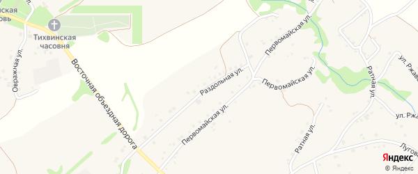 Раздольная улица на карте Курского села Белгородской области с номерами домов