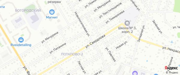 Новопоселковая улица на карте Щелково с номерами домов