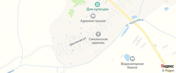 Школьная улица на карте деревни Мартыново Ярославская области с номерами домов
