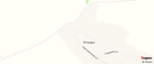 Садовая улица на карте села Углово с номерами домов