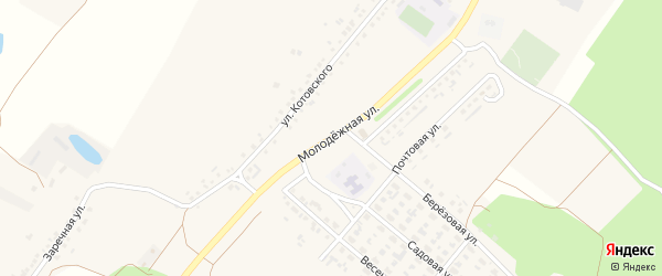 Молодежная улица на карте села Котово с номерами домов
