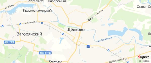 Карта Щелково с районами, улицами и номерами домов