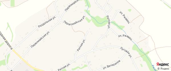 Ратная улица на карте Курского села с номерами домов
