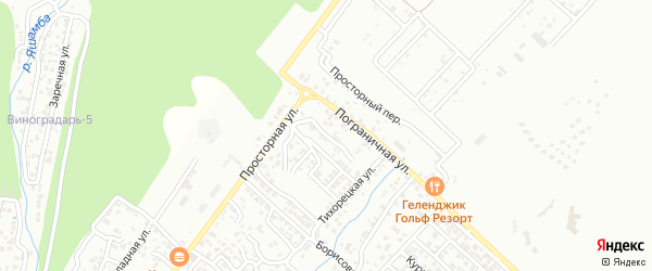 Темрюкская улица на карте Геленджика с номерами домов