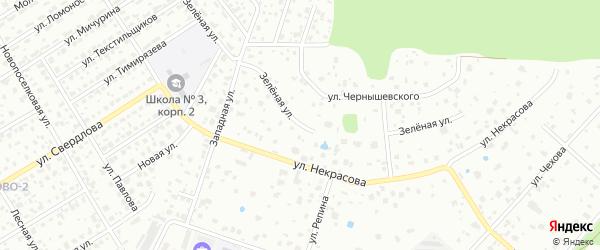 Зеленая улица на карте Щелково с номерами домов