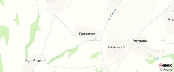 Карта деревни Грачнево в Московской области с улицами и номерами домов