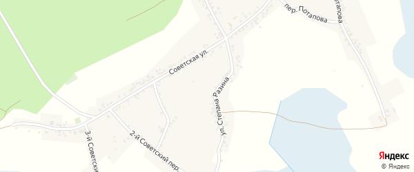 1-й Советский переулок на карте Двулучного села Белгородской области с номерами домов