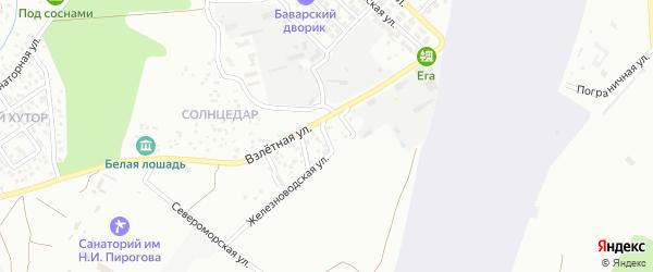 Гурзуфская улица на карте Геленджика с номерами домов