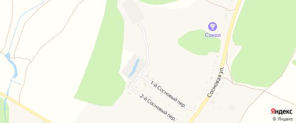 1-й Сосновый переулок на карте села Котово с номерами домов