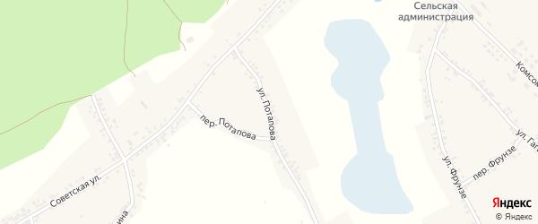 Улица Потапова на карте Двулучного села с номерами домов