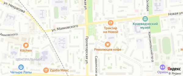 ГСК ГК-02 на карте Железнодорожного микрорайона с номерами домов