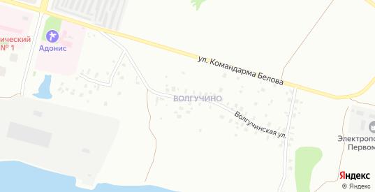 Волгучинская улица в Череповце с номерами домов на карте. Спутник и схема онлайн