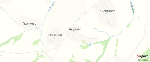 Карта деревни Акулово в Московской области с улицами и номерами домов