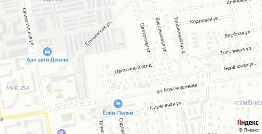 Цветочный проезд в Череповце с номерами домов на карте. Спутник и схема онлайн