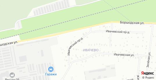 Ивачевский проезд в Череповце с номерами домов на карте. Спутник и схема онлайн