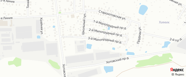Малопрудный 3-й проезд на карте Щелково с номерами домов